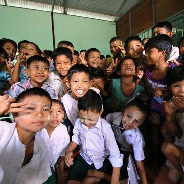Ve škole v uprchlickém táboře