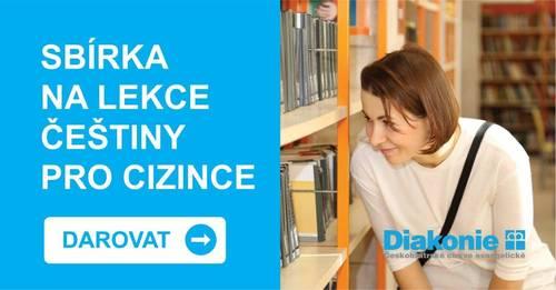 Sbírka na lekce češtiny pro cizince